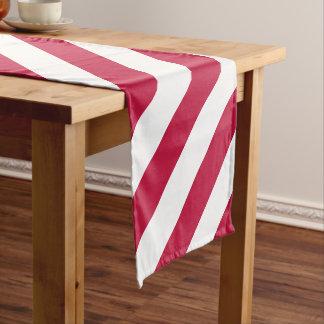 米国は赤い白のストライプの綿のテーブルのランナーに印を付けます ショートテーブルランナー