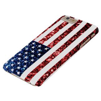 米国は赤に印を付けます及び青はプラスの場合iPhone 6の光っています Barely There iPhone 6 Plus ケース