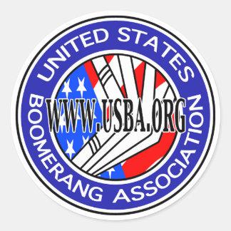 米国は連合円形sticker2のもとへ戻ります ラウンドシール