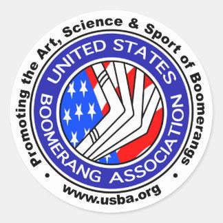 米国は連合円形sticker3のもとへ戻ります ラウンドシール