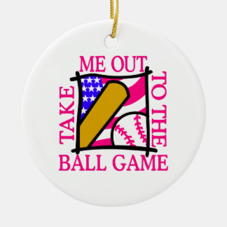 米国は野球と印を付けます セラミックオーナメント