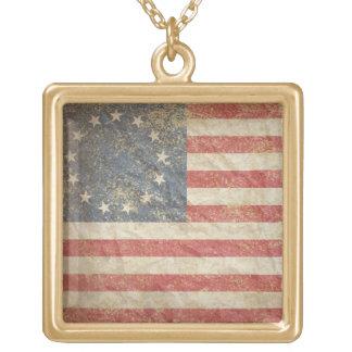 米国は1776年に印を付けます ゴールドプレートネックレス