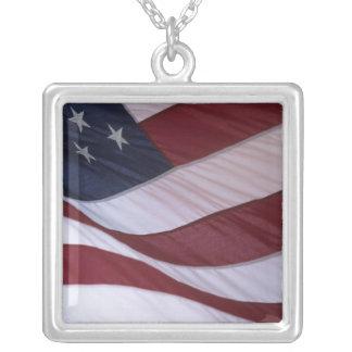 米国は、ノースカロライナ、米国印を付けます シルバープレートネックレス