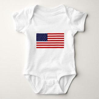 米国は-星条旗印を付けます! ベビーボディスーツ
