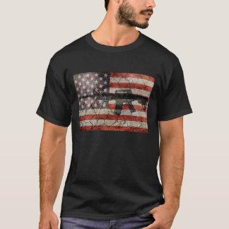 米国はTシャツに印を付けましたり及び撃ちます Tシャツ