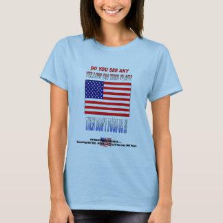 米国を押さないで下さい Tシャツ