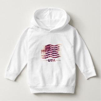 米国アメリカの幼児のプルオーバーのフード付きスウェットシャツ パーカ