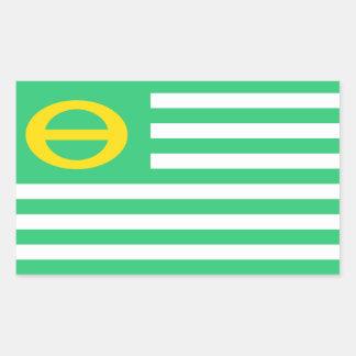 米国アメリカの生態学の緑の旗 長方形シール