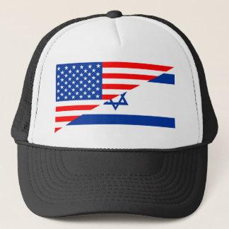 米国アメリカイスラエル共和国の半分の旗米国の国 キャップ