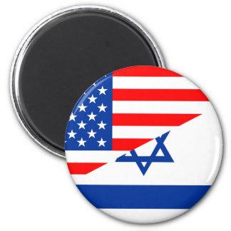 米国アメリカイスラエル共和国の半分の旗米国の国 マグネット