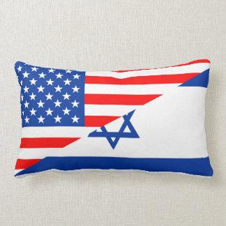 米国アメリカイスラエル共和国の半分の旗米国の国 ランバークッション