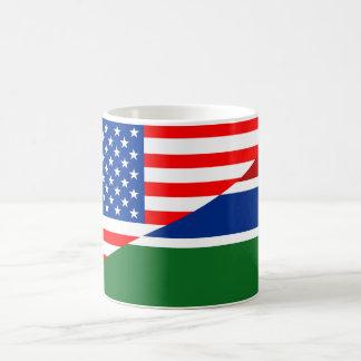 米国アメリカガンビアの半分の旗米国の国 コーヒーマグカップ