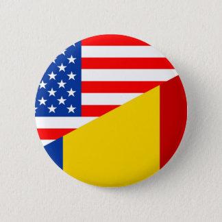 米国アメリカルーマニアの半分の旗米国のcountr 缶バッジ