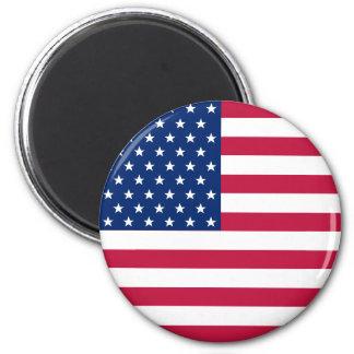 米国アメリカ米国の旗の愛国心が強い円形の冷蔵庫用マグネット マグネット