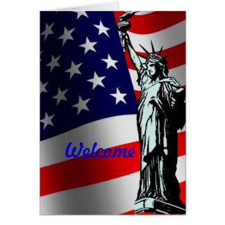 米国カードへの歓迎 カード