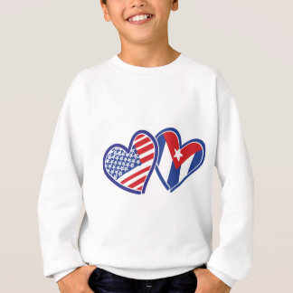米国キューバ愛ハート スウェットシャツ