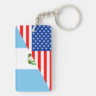 米国グアテマラの国の半分の旗アメリカの記号 キーホルダー