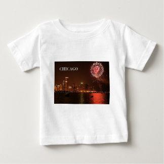 米国シカゴ(St.K) ベビーTシャツ