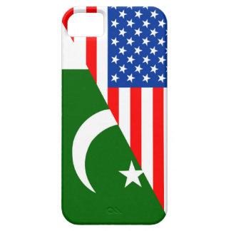 米国パキスタンの国の半分の旗アメリカの記号 iPhone SE/5/5s ケース