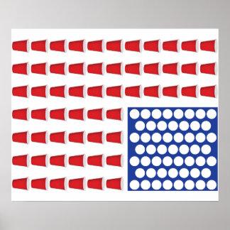 米国ビールPongポスター ポスター