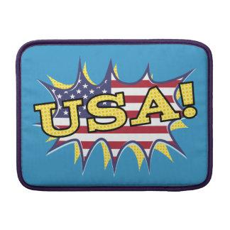 米国ブームの破裂音の捕虜の旗の星の破烈 MacBook スリーブ