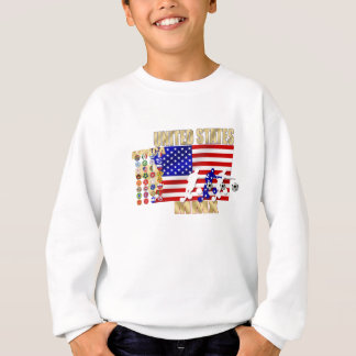 米国ヶ国のサッカーのFutbolの32個のギフト スウェットシャツ