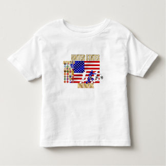米国ヶ国のサッカーのFutbolの32個のギフト トドラーTシャツ
