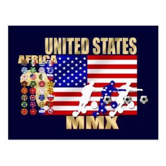 米国ヶ国のサッカーのFutbolの32個のギフト ポストカード
