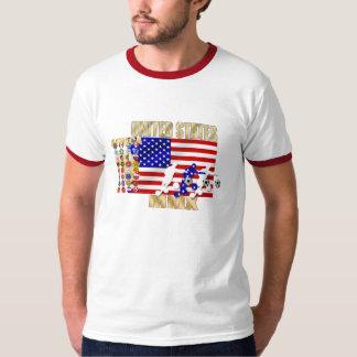 米国ヶ国のサッカーのFutbolの32個のギフト Tシャツ