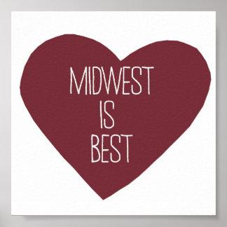 米国中西部は最も最高のです ポスター