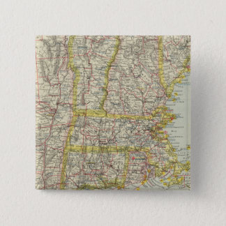 米国北東部2 5.1CM 正方形バッジ