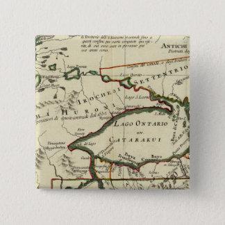 米国北東部 5.1CM 正方形バッジ