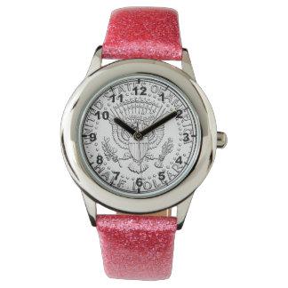 """""""米国半ドル硬貨""""のデザインの腕時計 腕時計"""
