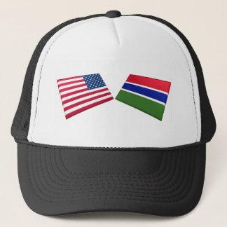米国及びガンビアの旗 キャップ