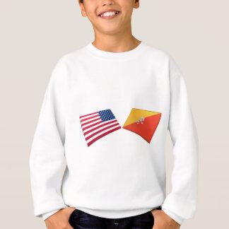 米国及びブータンの旗 スウェットシャツ