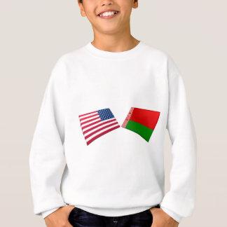 米国及びベルラーシの旗 スウェットシャツ