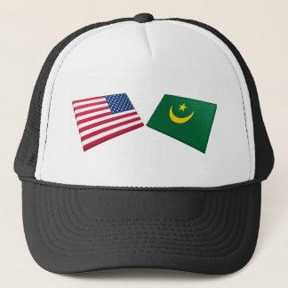 米国及びモーリタニアの旗 キャップ