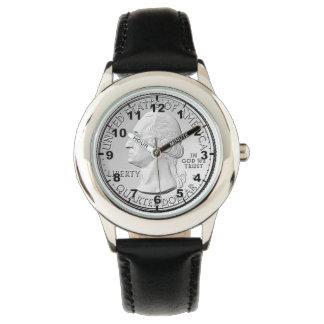 """""""米国四分の一硬貨""""のデザインの腕時計 腕時計"""