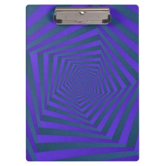 米国国防総省の青および紫色の螺線形 クリップボード