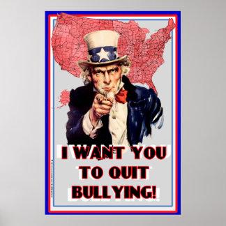 """米国市民いじめるポスター""""私はやめてほしいです! """" ポスター"""