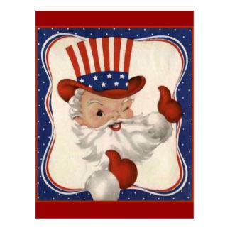 米国市民としてサンタクロース ポストカード