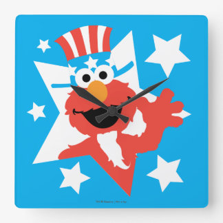 米国市民としてElmo スクエア壁時計