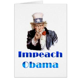米国市民オバマを弾劾します カード