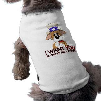 米国市民コーギー犬のTシャツ ペット服