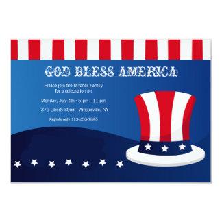 米国市民シルクハットの招待状 カード