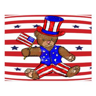 米国市民テディー・ベア ポストカード