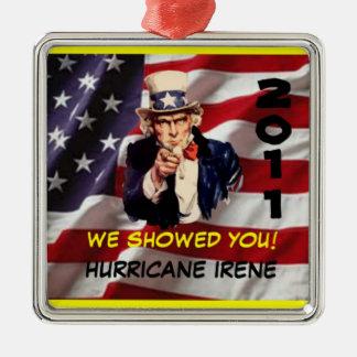 米国市民ハリケーンのアイリーンの2011年の生存者のオーナメント メタルオーナメント