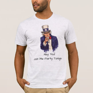米国市民パーティの招待状のTシャツ Tシャツ