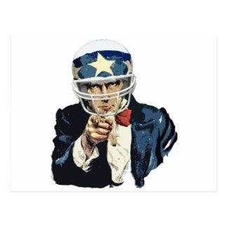 米国市民フットボール ポストカード