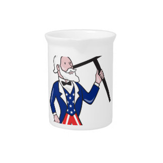 米国市民プラカードの投票永続的な漫画 ピッチャー